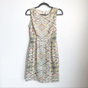 Japna   Geometric Pattern Sleeveless Midi Dress